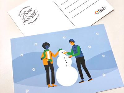 ThinkCERCA Holiday Postcard