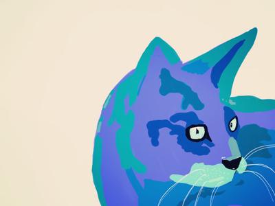 Kitty Cat adobe cat drawing paint