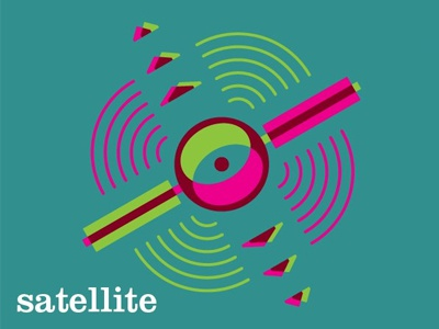 Satellite vectore illustration fun