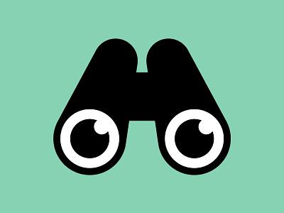 Humdrum logo binoculars letter vector logo
