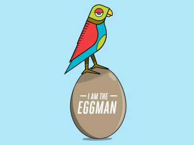 I am the Eggman poster bird color fun beatles