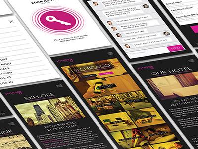 Moxy iphone phone layout app hotel ux ui