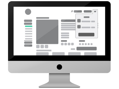 Product Detail Page mac apple layout wireframe website shopping ux ui