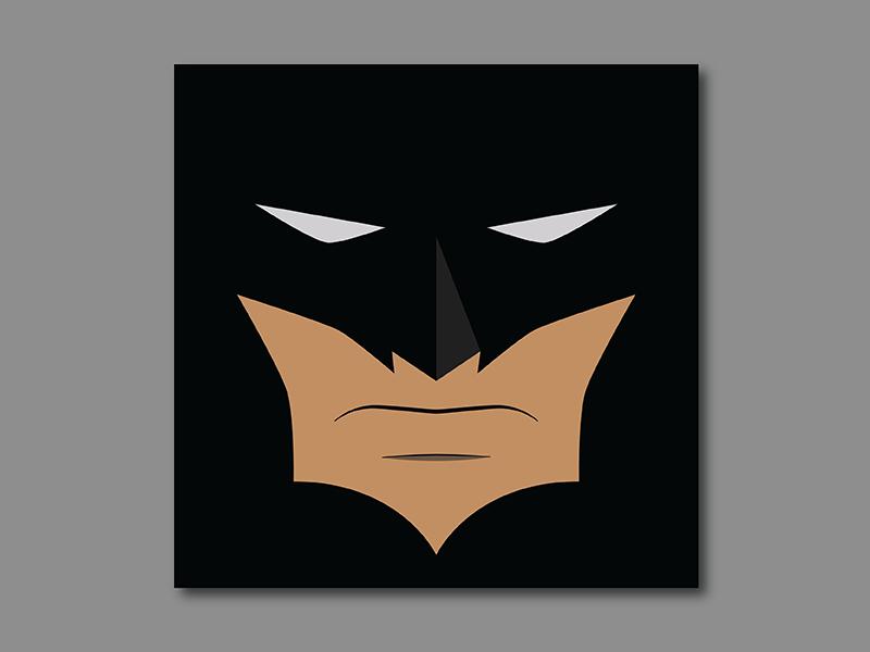 The Simple Bat flat minimal bat poster comic batman