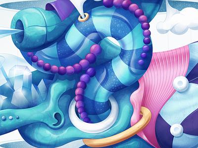 Initial Meditative State - Detail illustration art design digitalart illustration digital