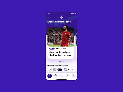 Sports App - Soccer Scores and Statistics (Animation) heat map score sports product design premier league epl invision studio sports design football soccer sport