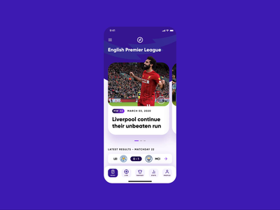 Sports App - Soccer Scores and Statistics (Animation) heat map score sports product design premier league epl invision studio sports design football soccer sport
