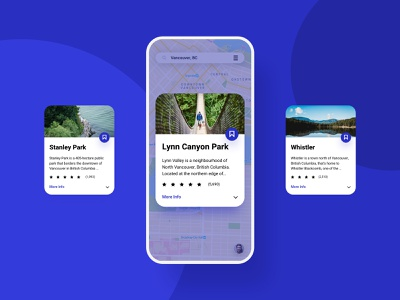 Discover Tourist Attractions | Concept mapping attraction tourist place location google vancouver canada blue card world gps map