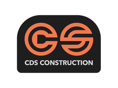 CDS Construction (orange) logodesign logo