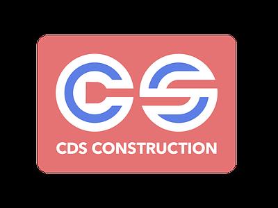 CDS Construction (rwb) logo design logo