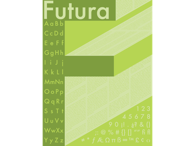 Futura Type Study (2015) vector typography