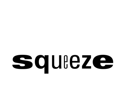 Squeeze typography