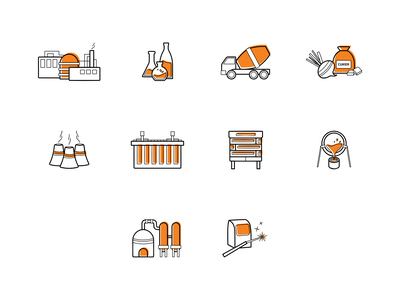 Industrial Icons welding furnace industry webdesign icons design icons set icons icon