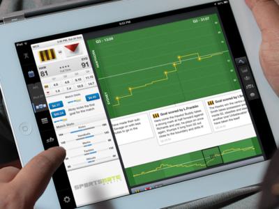 "Aussie Rules iPad app - Live match ""Worm"""