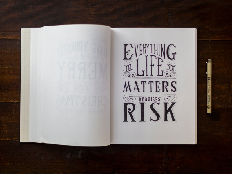Risk handdrawn drawing typography lettering hand lettering