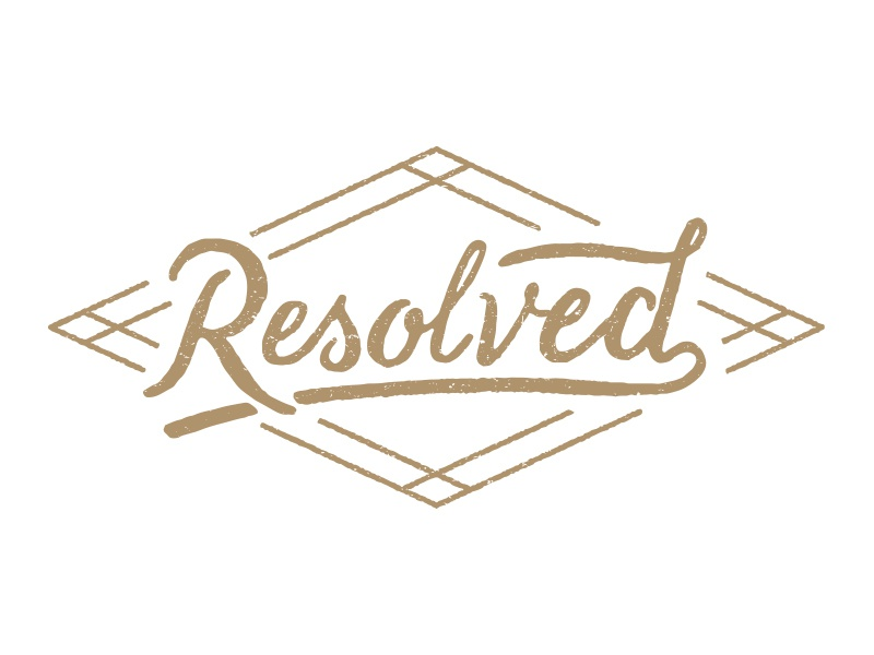 Resolved mark lettering hand lettering