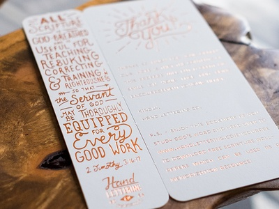 Letterpress + Copper Foil