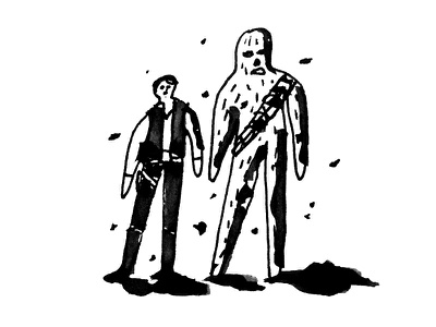Scoundrels  daily doodle scoundrels star wars chewie han solo