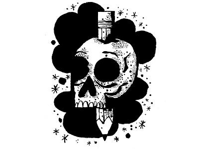 Deadly Doodles skulls sketch ink daily doodle