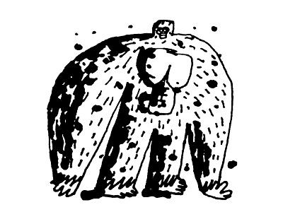 Apeman the kinks man ape sketch ink daily doodle