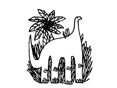 Dino dinosaur sketch ink daily doodle