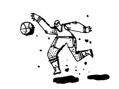 Sports Illustrated nba basketball sketch ink daily doodle