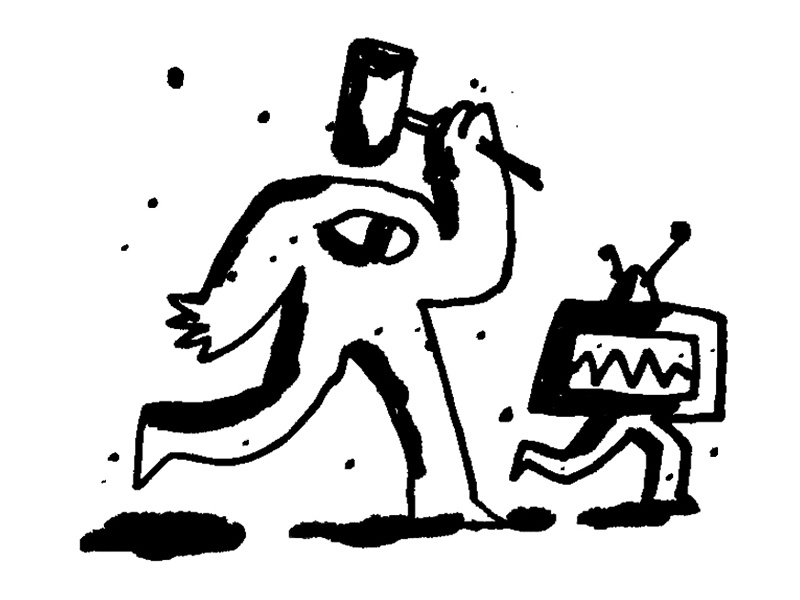 Daily Doodle No. 128 monsters tv sketchbook daily doodle