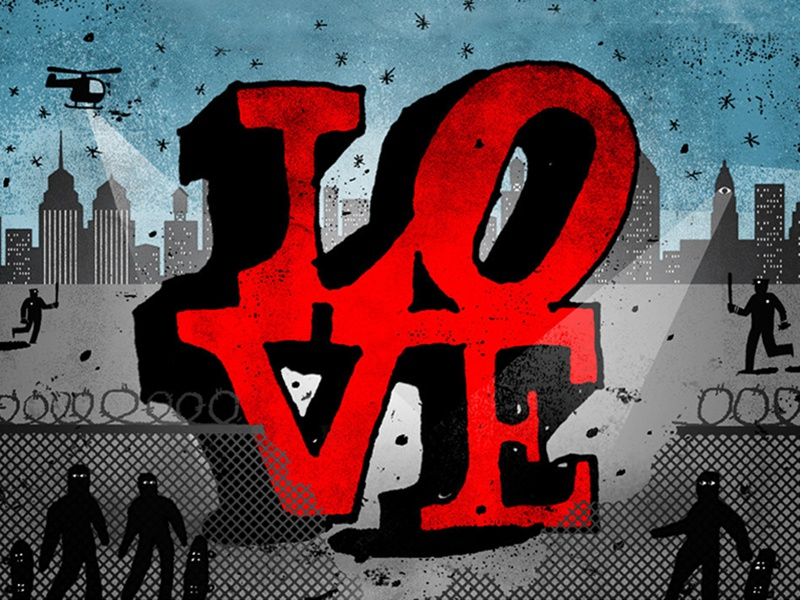 Buzzfeed philadelphia skate boarding love park illustration
