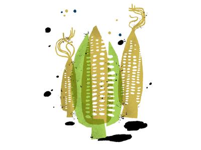 Wedding Invite - spot illustrations corn food wedding spot illustration