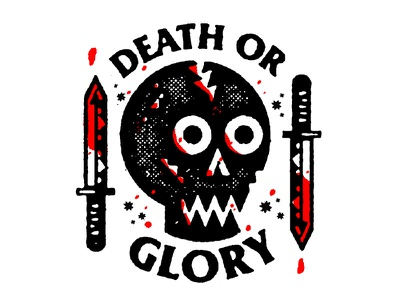 Death or Glory illustration bart simpson pizza messy vectors the clash