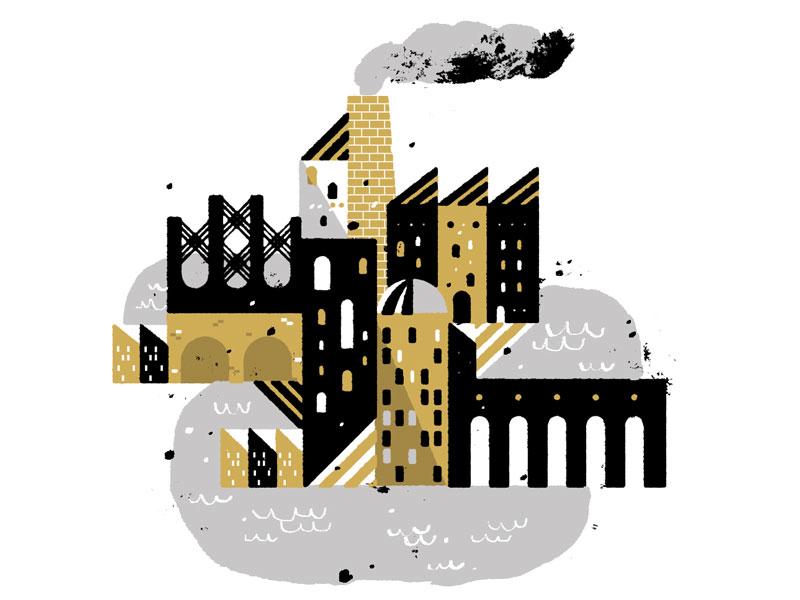 Mini City illustration city daily doodle