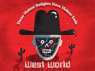 West World west world illustration daily doodle
