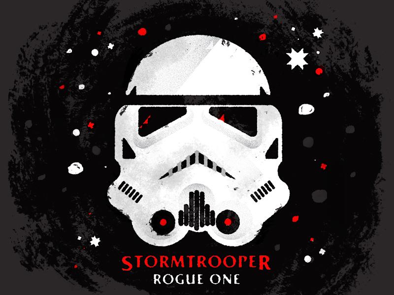 Stormtrooper rogue one stormtrooper star wars design illustration daily doodle