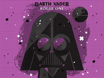 Darth Vader rogue one darth vader star wars design illustration daily doodle