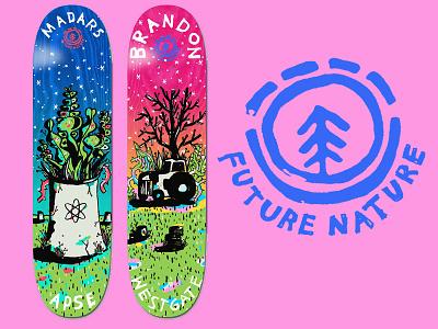 Element Skateboards illustration element skateboards