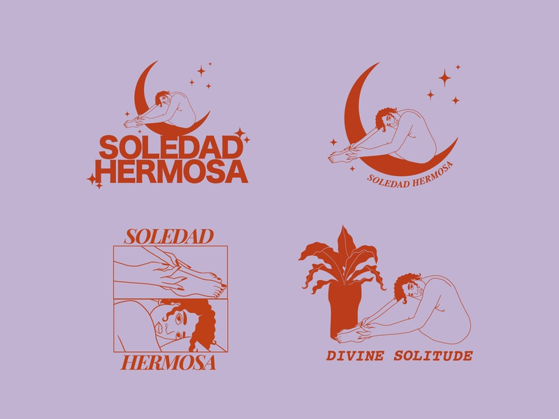 Soledad Hermosa Tee Designs typography illustration