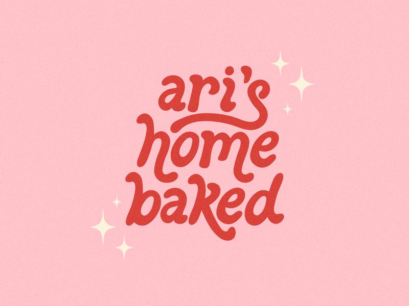 Ari's Home Baked Logo logo handlettering lettering illustration