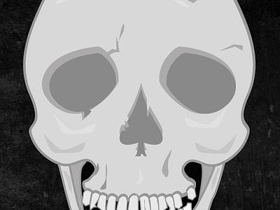Calling a spade a nose. vector skull