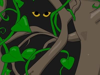 Jungle WIP vector illustration inkscape jungle