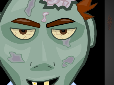 Zombie icon ios illustration character zombie