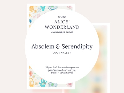 Absolem and Serendipity Tumblr Theme website web design web tumblr theme tumblr theme