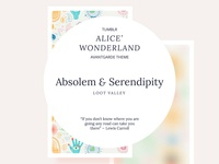Absolem and Serendipity Tumblr Theme
