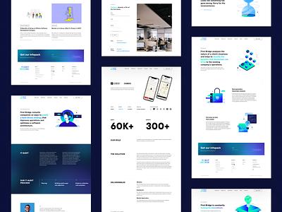 FirstBridge website redesign company gradients trendy illustration web ux minimalistic uidesign typography uiux minimal