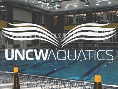UNCW Student Recreation Center Aquatics Facility Logo logo