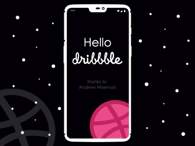 Hello Dribbble logo design css html ui ux web design web debut