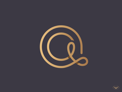 A Letter Logo classy modern initial elegant gold a logotype logo typography monogram a letter letter a