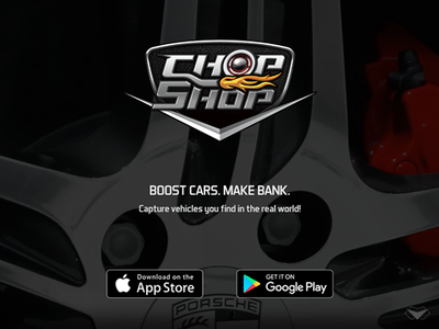 ChopShop App & Logo Design ux ui game application logotype car shop auto automobile car logo app