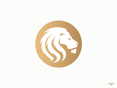 The Lion Logo logo logotype king circle coin corporate business gold lion