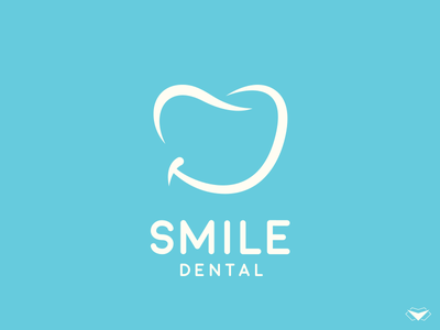 Smile Dental Logo tooth teeth sophisticated blue pearly oral natural luxurious gums dentistry dental