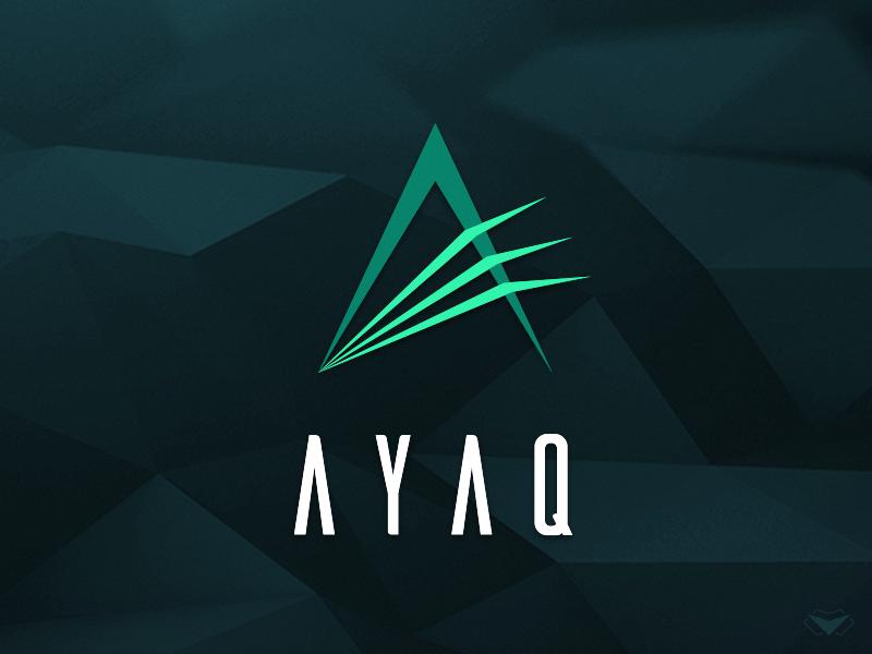 AYAQ Labs Logo technology logotype spectrum light a letter tech high logo green